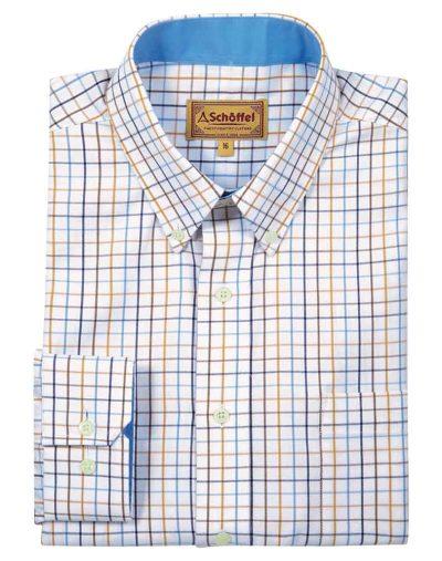 Banbury-Shirt---Ochre-Check