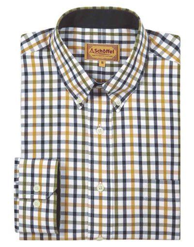 Brancaster-Shirt---Olive-Check