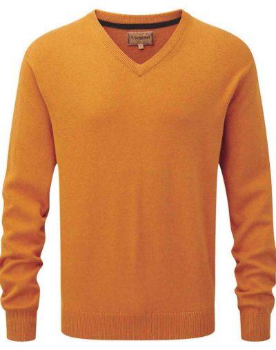 Cotton-Cashmere-V-Neck---Ochre-1000px