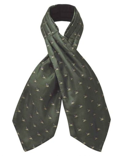 Silk-Shooting-Cravat---Dark-Olive
