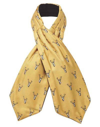 Silk-Shooting-Cravat---Ochre