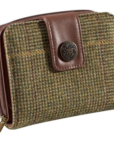 Alan Paine Combrook Tweed Purse Heather