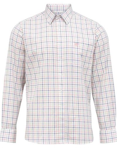 Alan Paine Aylesbury Shirt Blue Pink Check