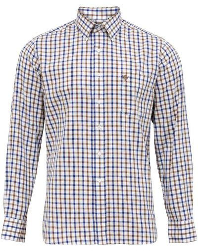 Alan Paine Aylesbury Shirt Brown Check