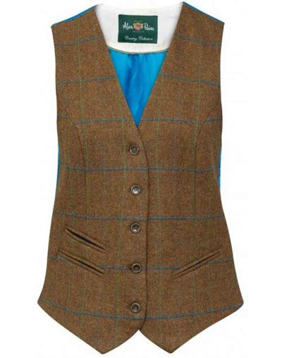 alan paine richmond tweed ladies button waistcoat