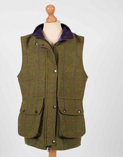 Fox Bay Kids Purple Tweed Gilet