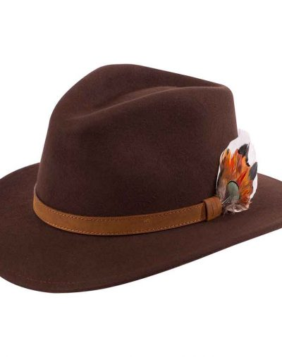 Alan Paine Brown Felt Hat