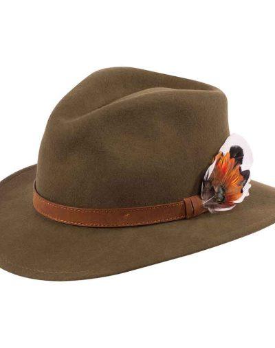 Alan Paine Olive Felt Hat