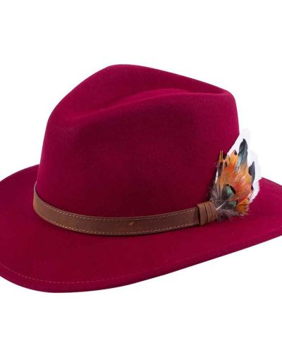 Alan Paine Wine Felt Hat