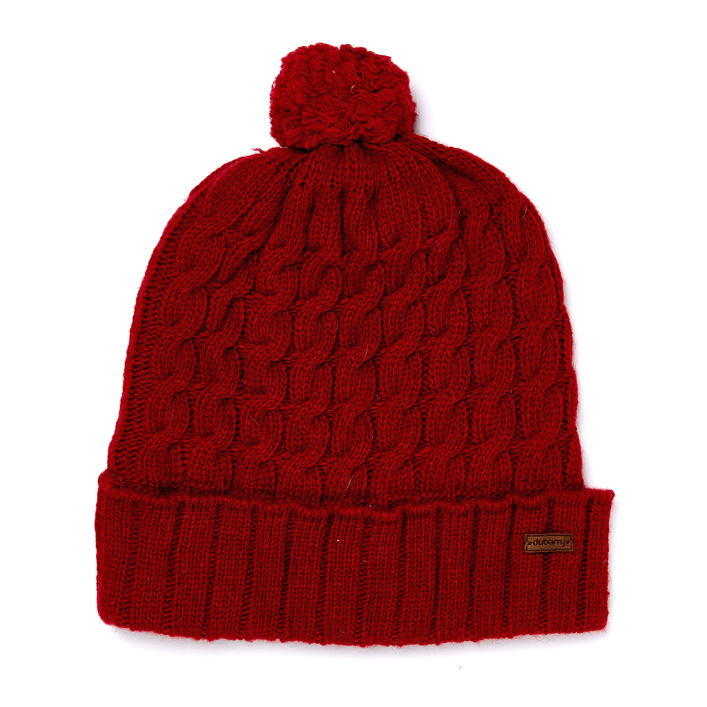 387004c002a Dubarry Athboy Knitted Hat Cardinal - Foxholes Country Pursuits