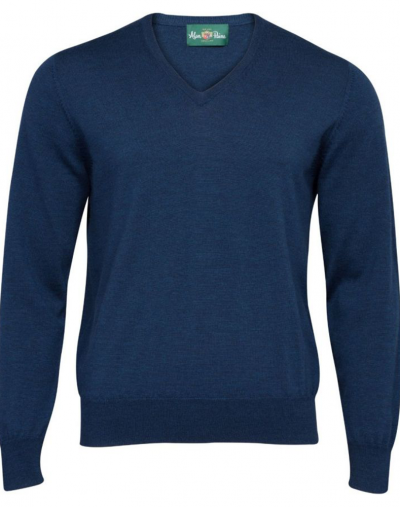 alan paine millbrook jumper indigo