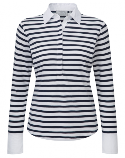 Schoffel Salcombe Navy Stripe Shirt