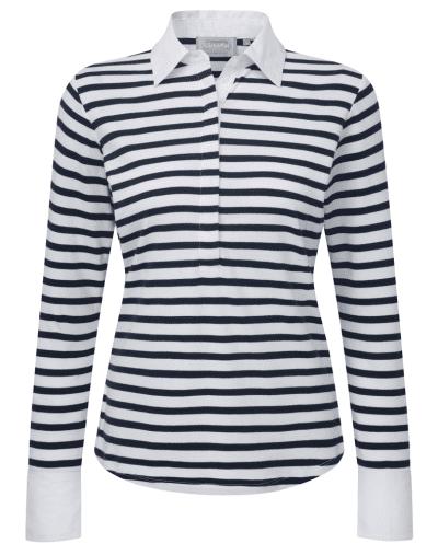 Schoffel Salcombe Navy Stripe Shirt