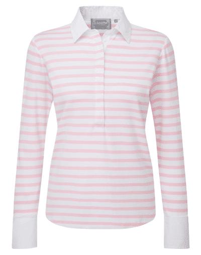 Schoffel Salcombe Pink Stripe Shirt