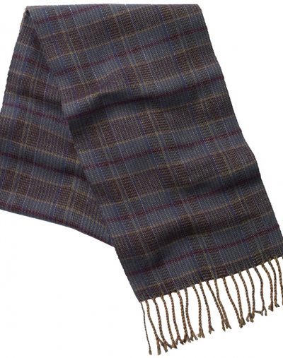Schoffel Merino wool scarf ochre