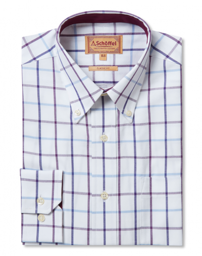 Schoffel Brancaster Shirt Purple