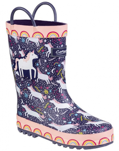 Cotswold Sparkle Unicorn Wellingtons